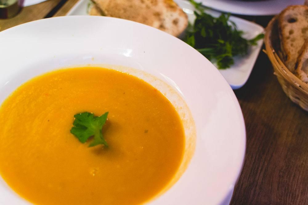 soupe au lait de coco et legumes